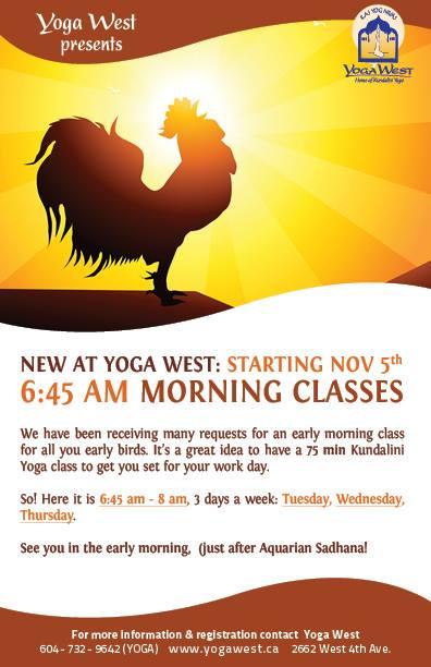 Yoga West Morning Classes