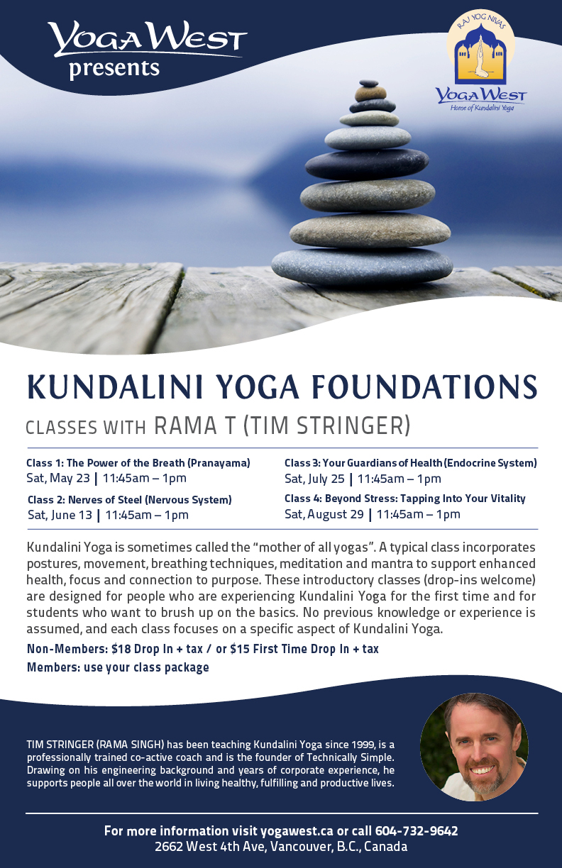 Kundalini Yoga Foundations - May to August, 2015
