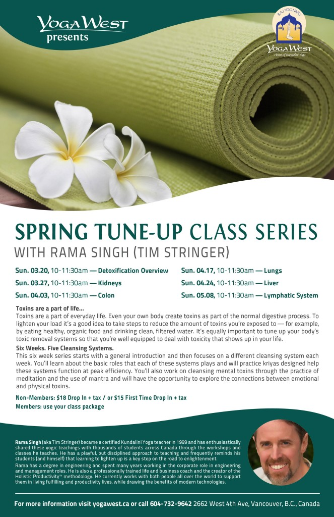 2016 - Spring Tune-up at Yoga West